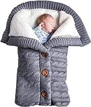 Winter Einschlagdecke Neugeborene Warme Schlafsack Outdoor Kinderwagen Wickeldecke Gestrickt Samt Tasche Universal für Babyschale