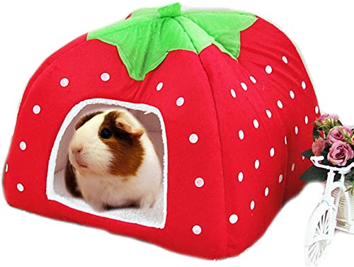 FLAdorepet Rabbit Guinea Pig Hamster House Bed Cute Small Animal Pet Winter Warm Squirrel Hedgehog Chinchilla House C...