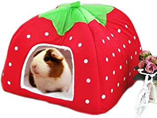 FLAdorepet Rabbit Guinea Pig Hamster House Bed Cute Small Animal Pet Winter Warm Squirrel Hedgehog Chinchilla House Cage Nest Hamster Accessories