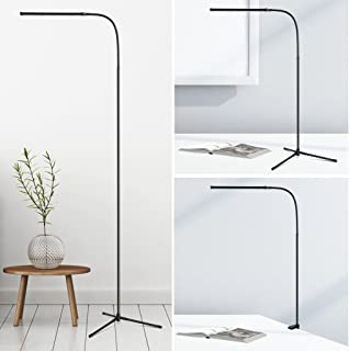 3-in-1 Dimmable LED Floor Lamp, SLYPNOS Height and Angle Adjustable Reading