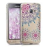 kwmobile Coque Compatible avec Samsung Galaxy J1 (2016) - Housse Protectrice pour Téléphone en Silicone Rosace Fleurie...