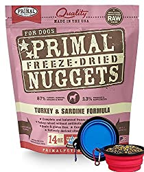 Primal Freeze-Dried Nuggets Turky and Sardine Formula for Dogs