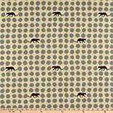 Kokka 0643756 Echino Panther Dots Linen Canvas Grey Fabric