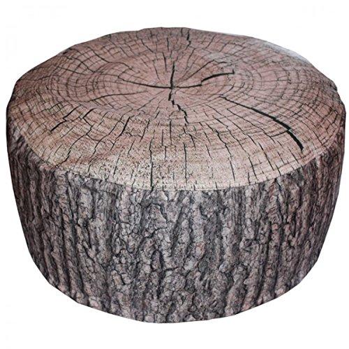 Viva Outdoor Pouf Eiche oder FICHTE Baumstamm aufblasbares Sitzkissen Rinde 55x25 cm, Variante:Fichte