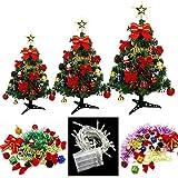 PPFC Mini Árbol con Las Luces Pequeños Accesorios Arco Campanas de Navidad del Cono del Pino de Escritorio Decoraciones del Año Nuevo 30/45 / 60cm 1111 (Size : 45cm)