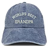 Trendy Apparel Shop World's Best Grandpa Embroidered Pigment Dyed Low...