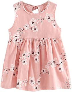 3e0af23375162 ... Sleeveless Comfortable Sweet Dresses. YWLINK Toddler Girls' Summer Princess  Dress With Flower Embroidery Baby Party Wedding Sleeveless Comfortable Sweet