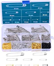 462 Pieces 7 Sizes Safety Pins Assorted Durable, Large Safety Pins Small 19mm - 54mm for Home Office Use Art Craft Sewing Jewelry Making