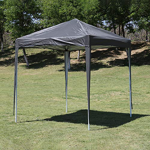 CLIPOP Portable 2x2m Garden Gazebo Pop Up Tent with Powder Coated Steel Frame and Carrying Case, Waterproof Marquee Tent for Outdoor Camping Beach