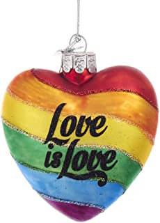 Kurt Adler Kurt S. Adler Noble Gems Pride Love Rainbow Glass Ornament