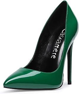 e4a9d24a48 CASTAMERE Women's High Heel Pumps Slip-on Pointy Toe Elegant Stilettos  Comfort Sexy Heel Shoes