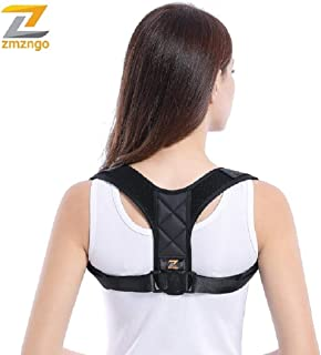 ZMZNGO Posture Corrector for Men and Women - USA Designed Adjustable Upper Back Brace for Clavicle Support and Providing Pain Relief from Neck, Back and Shoulder (Universal)