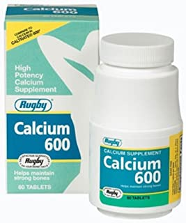 Rugby Calcium 600MG Tabsâ Calcium CARBONATE-600 MG White 60 Tablets UPC 005363426085