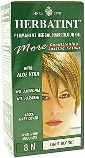 Herbatint 8N Permanent Herbal Light Blonde Haircolor Gel Kit - 3 per case.