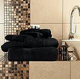 Gaveno Cavailia - Toalla de baño (algodón Egipcio, Absorbente, 700 g/m², 2 Unidades, 70 x 125 cm), Color Negro