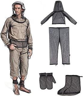 WAQIA HOUSE Bug Jacket Mosquito Suit, Anti-Mosquitoes Suit,Lightweight Bug Mosquito Suit Wear Ultra-fine Mesh for Men Women Hiking Fishing Camping Bee Feeding Cycling 4 Pcs