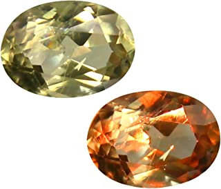 Deluxe Gems 1.68 ct Oval Cut (9 x 6 mm) Unheated/Untreated Turkish Color Change Diaspore Natural Loose Gemstone
