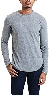 GOODLIFE Men's Tri-Blend Long-Sleeve Crew T-Shirt | Lightweight and Breathable Tee Made in The USA