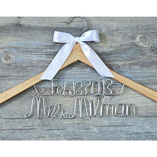 Personalisierbarer Brautkleiderbügel, Brautkleiderbügel, Hochzeitskleiderbügel, benutzerdefinierte Braut Brautjungfer Namensaufhänger
