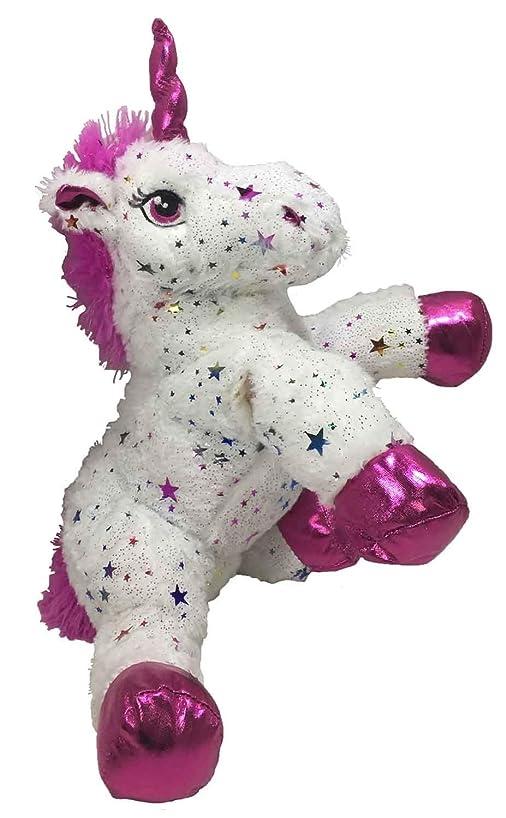 JGW Toy Plush Sparkle Star Unicorn (Bonus Unicorn Lip Gloss Bracelet) Bundle 3 …