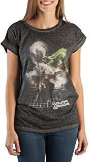 Dungeons and Dragons Realistic Graphic Rolled Sleeve Juniors T-Shirt