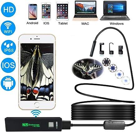 HZYYZH WiFi Endoscope 1200p Ultra High Definition Shooting Materiale a Filo Duro Frontale 8 LED Luci Direttamente 8mm,10Mhardwire - Trova i prezzi più bassi