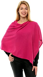 Womens 100% Cashmere Poncho 2 Plys Colors