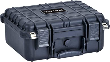 MIEJIA Portable All Weather Waterproof Camera Case with Foam,Fit Use of Drones,Camera,Equipments,Pistols,Elegant Black,13.35 x11.63x5.98inches