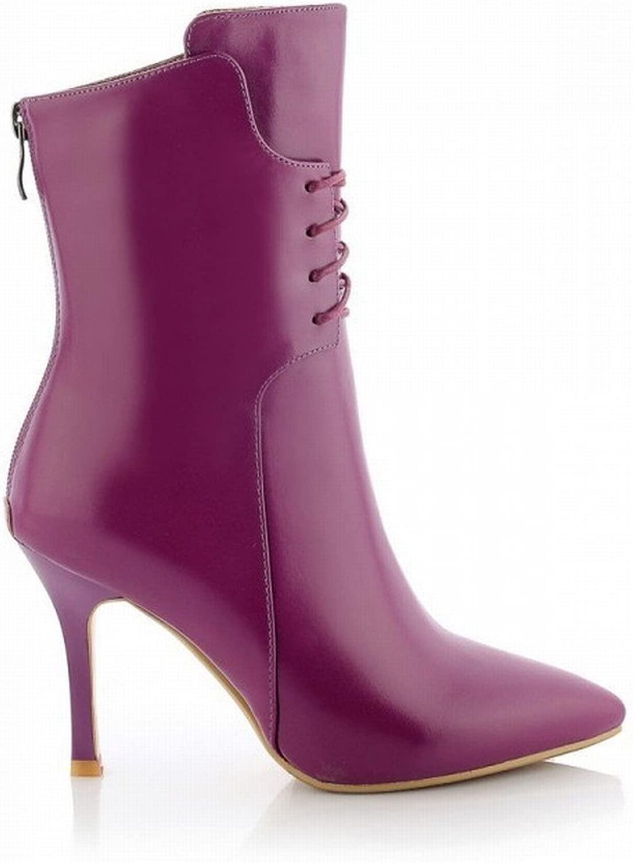 DIDIDD Stivali da Donna con Tacco Alto in Multa High-End con Sautope da Donna High-End Appuntite,Viola,39