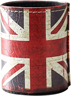 LINKWELL 1PC Antique UK Union Jack PU Leather Pencil Pen Holder Desk Organizer PH10