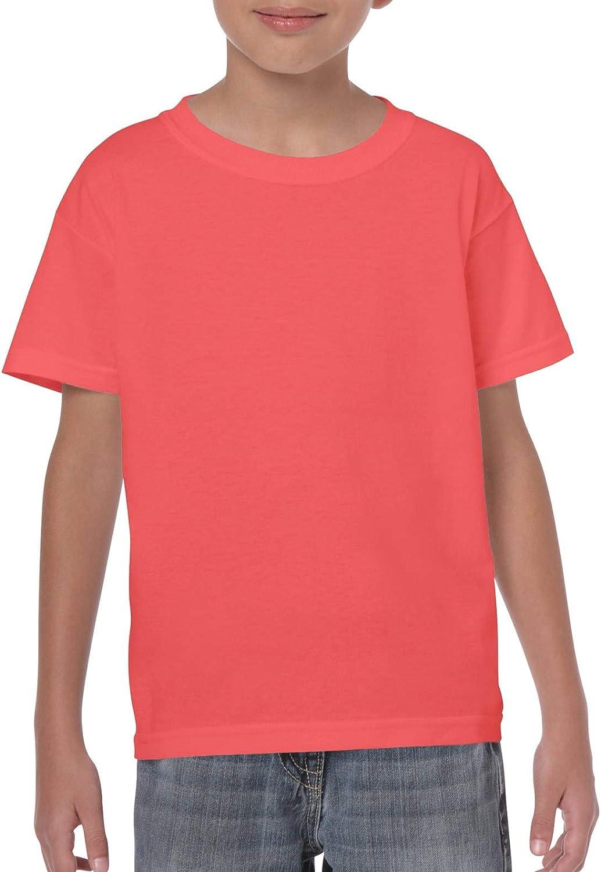 Gildan Boy's Cotton Crew Neck Tee Shirt