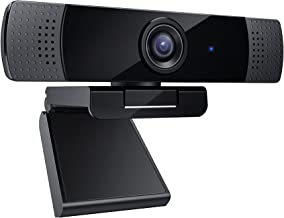 2021 Latest 1080p Webcam with Dual Stereo Microphones, Full HD USB Desktop Web Camera with Auto Light Correction for Video...
