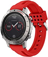 XZZTX Compatible with Garmin Fenix Chronos Watch Band, Soft Silicone Replacement Watch Strap Wristband Compatible for Garmin Fenix Chronos Smart Watch