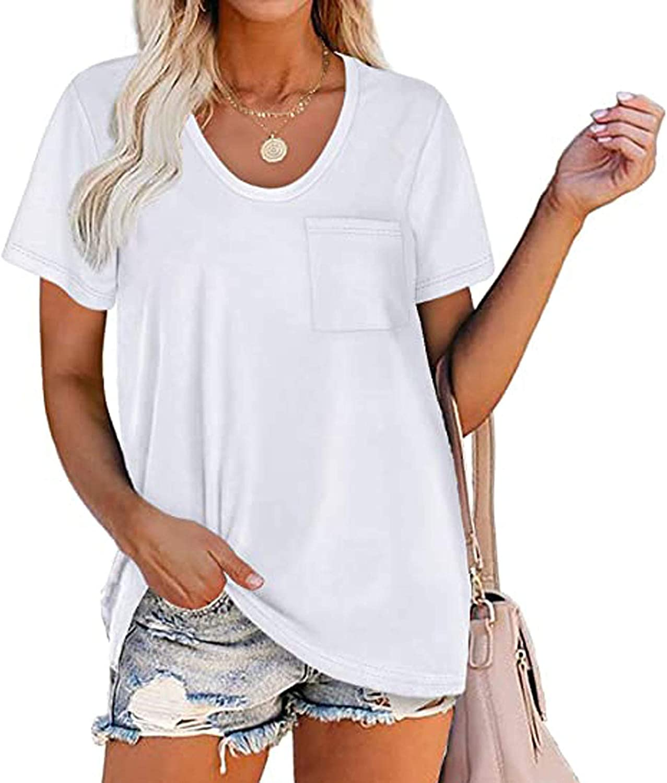 Yuaekjes Womens Plus Size T-Shirt Tops 1971 Letter Printed O-Neck Loose Fit Shirts Short Sleeve Tee Summer Blouse Tunic