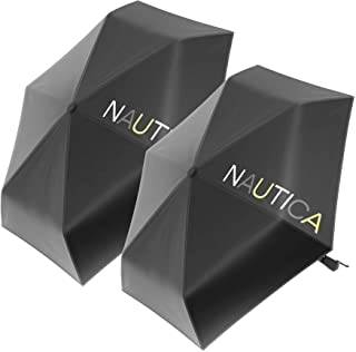 """2-Pack Nautica 3-Section Auto Open Umbrella - Sturdy Rainy Day Protection with Ergonomic Handle, 42"""" of Coverage"""