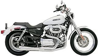 Bassani Xhaust 96-03 Harley XL1200C Road Rage 2-Into-1 Exhaust (Chrome/Short Upswept)