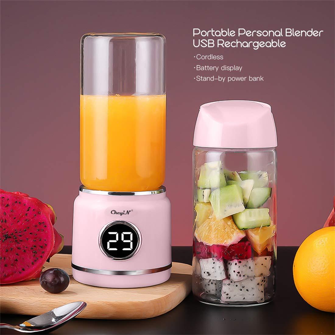 Extractor de Just Batidora recargable por USB, mezclador de frutas ...