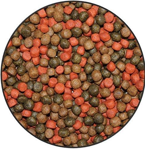 Wohnkult TOP Premium Koifutter 3 Sorten Mix in 3 mm und 6 mm 5 Liter und 10 Liter Spirulina Knoblauch Color Teich Koi Goldfisch Stör (3 er Mix 6 mm / 5 Liter)