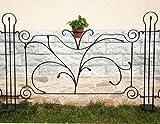 DanDiBo Designer Gartenzaun'Dekor' Zaunelement 90 cm Zaun Metall Schmiedeeisen Steckzau