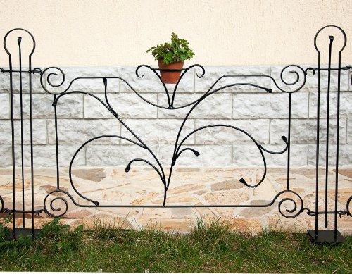 DanDiBo Designer Gartenzaun Dekor Zaunelement 90 cm Zaun Metall Schmiedeeisen Steckzau