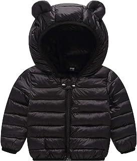 12abe1471bcf Evelin LEE Unisex Baby Zipper Hooded Coat Winter Down Jacket Cotton Cute  Snowsuit