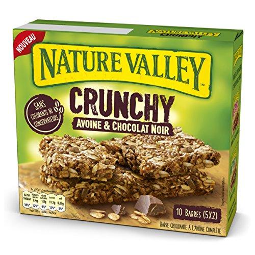 Nature Valley - Barres de Céréales Crunchy Avoine & Chocolat - 10 Barres (5x2 Barres)