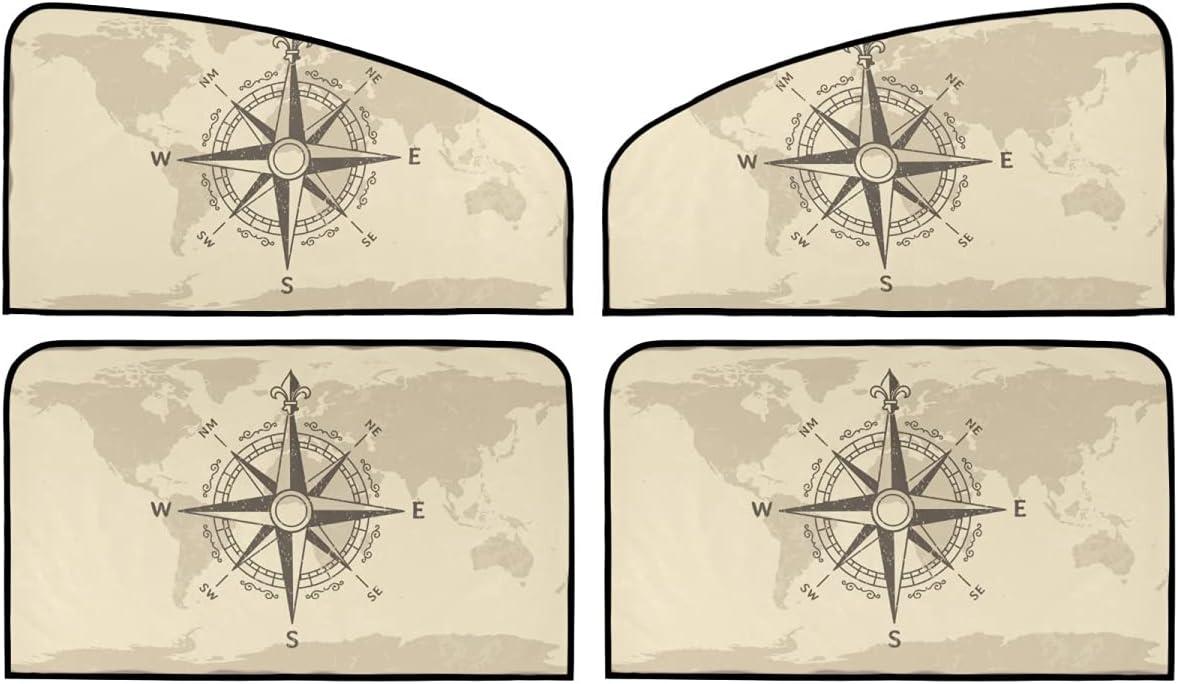 4 Piece Set Cheap mail order sales Magnetic Car Limited price sale Window Blocker Compass Wo - Antique Sun
