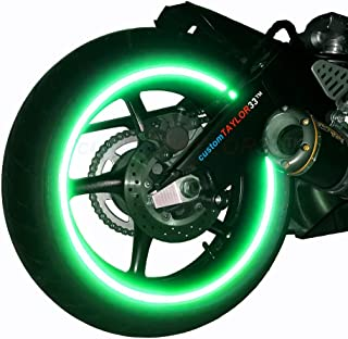 customTAYLOR33 (All Vehicles Green High Intensity Grade Reflective Copyrighted Safety Rim Tapes (Must Select Your Rim Size), 18