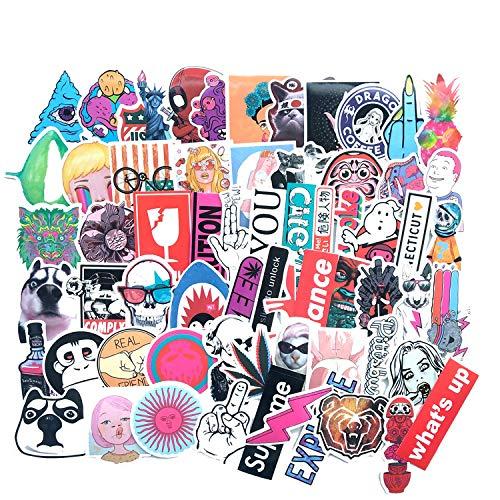 HUNSHA 63 hojas/bolso de dibujos animados personaje inglés mascota expresión maleta maleta carro casco skate graffiti pegatinas