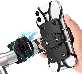 自転車用スマホホルダー スマホホルダー オートバイ 脱着可能タイプ 360度回転可能 振れ止め 脱落防止 GPSナビ 携帯 固定用 マウント スタンド 4-6.5インチiPhone/android 多機種対応