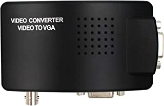 Portable BNC to VGA Video Converter Composite S-Video Input to PC VGA Out Adapter Digital Switch Box for PC MACTV Camera D...