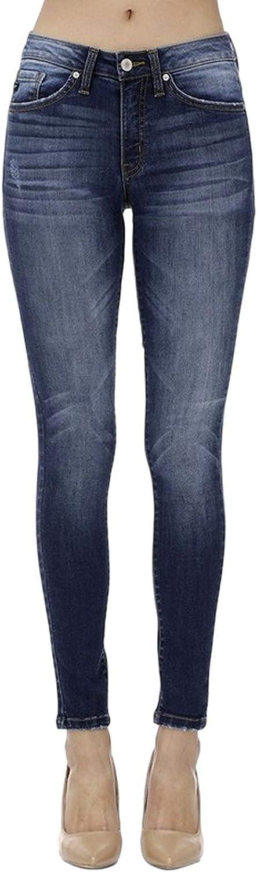 Kancan Women's Mid Rise Skinny Jeans KC7095
