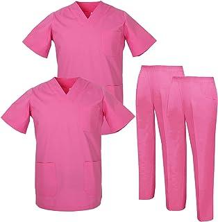 MISEMIYA - Pack * 2 Pcs - Uniforms Unisex Scrub Set – Medical Uniform with Scrub Top and Pants - Ref.2-8178