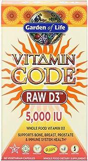 Garden of Life Vitamin Code RAW D3 5000 IU - 60 Vegetarian Capsules